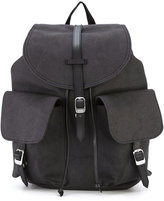 Herschel double pocket front backpack - unisex - Cotton/Leather - One Size