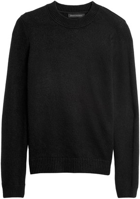 Banana Republic Petite Cotton-Blend Crew-Neck Sweater
