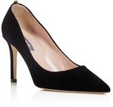 Sarah Jessica Parker Fawn Velvet Pointed Toe High Heel Pumps - 100% Bloomingdale's Exclusive