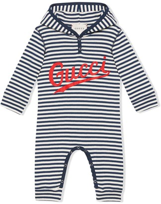 Gucci Kids Striped Logo Bodysuit