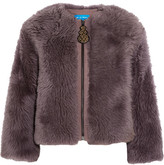 MiH Jeans Purdy Shearling Jacket - Purple