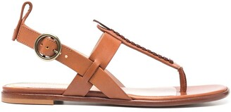 Etro Woven Leather Sandals