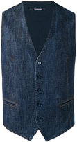 Tagliatore denim waistcoat - men - Cotton - 48