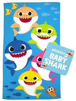 Baby Shark Kids 2Pc Bath Towel and Wash Cloth Set, 100% Cotton, 1 Set Each