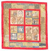Hermes Silk Persona Pocket Square