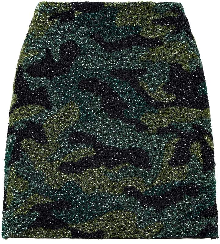 Alice + Olivia Sequin Camouflage Skirt