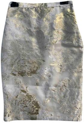 Genny Gold Silk Skirt for Women