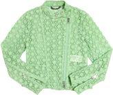 Ermanno Scervino Macramé Lace & Tulle Biker Jacket