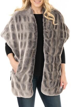 Donna Salyer's Fabulous-Furs Faux Fur Pocket Shrug