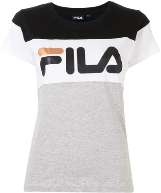 Fila cap sleeve logo print T-shirt