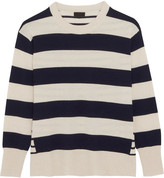 J.Crew Cheyne Striped Cashmere Sweater - Cream