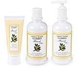 Caswell-Massey Caswell Massey Almond Aloe Bath Spa Gift Set Shower Gel Hand Cream Body Emulsion