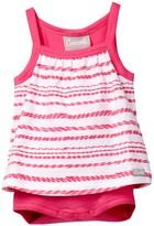 Coccoli Zigzag Stripe Skirted Bodysuit (Baby Girls)