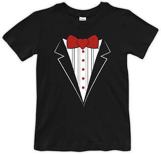 Urban Smalls Boys' Tee Shirts Red - Black & Red Tuxedo Tee - Toddler & Boys