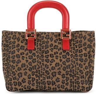 Fendi Pre-Owned Leopard Print Tote Bag