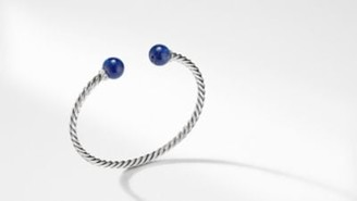 David Yurman Solari Bracelet With Diamonds And Lapis Lazuli