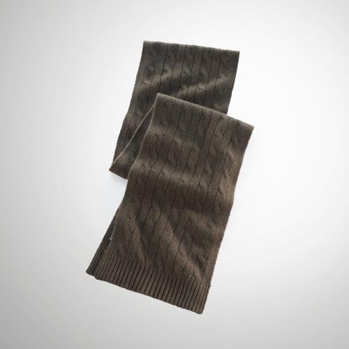 Ralph Lauren Black Label Cable Cashmere Scarf