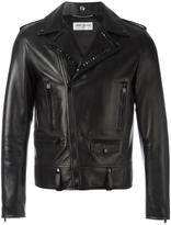 Saint Laurent studded lapel biker jacket