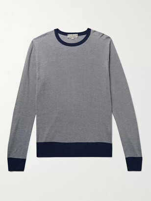 Canali Slim-Fit Striped Knitted Sweater