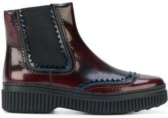 Tod's Flatform Chelsea Boots