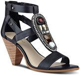 Nine West Reese Embellished Leather Sandals