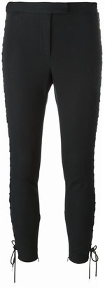 Alexander McQueen Lace-Up Cropped Trousers