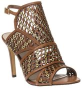 Vince Camuto New Womens Tan Korthina Leather Sandals High Heels Buckle Straps