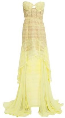 Jonathan Simkhai Strapless Chiffon-paneled Corded Lace Gown