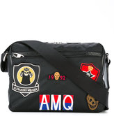 Alexander McQueen badge print messenger bag