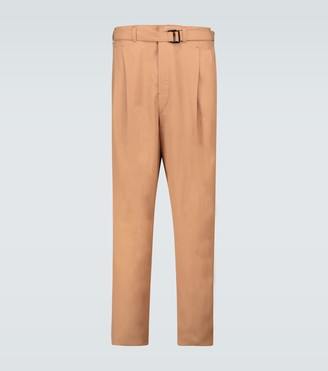 Lemaire Pleated pants with belt