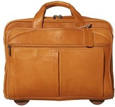 Solo New York Classic 15.6 Leather CheckFasttm Rolling Case (Tan) Bags