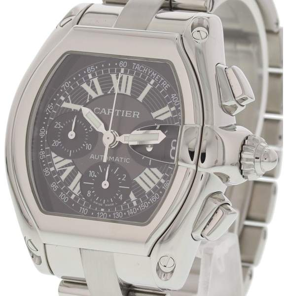 Cartier Roadster 2618 Stainless Steel Automatic Chronograph 43 mm Men's Watch