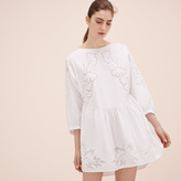 Maje Loose-fitting dress with embroidery