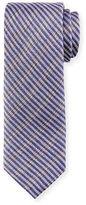 Brioni Open-Weave Plaid Silk Tie