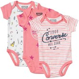 Converse Baby Girls Three Pack Hanging Bodysuit Set Assorted
