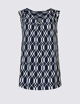 Marks and Spencer Geometric Print V-Neck Shell Top