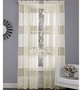 "Laura Ashley Belle Rod-Pocket 84"" Curtain Panel"