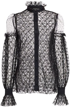 Wandering Pleated Lace Blouse