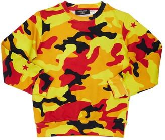 Neil Barrett Camouflage Print Cotton Sweatshirt