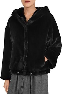 BA&SH ba & sh Fojo Faux Fur Coat