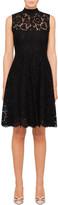 Valentino S/L Tie Neck Lace Dress