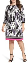 Eliza J Plus Size Women's Stretch Knit Shift Dress