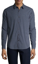 Theory Benner Trimont Checkered Sportshirt