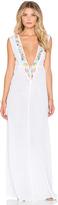 Shoshanna Mixed Media Embroidered Maxi Dress