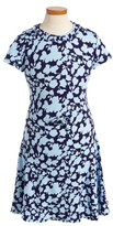 Oscar de la Renta Girl's Flower Silhouette Dress