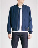 Ps By Paul Smith Textured Wool-blend Bomber Jacket