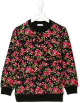 Dolce & Gabbana rose print sweatshirt - kids - Cotton/Elastodiene - 2 yrs