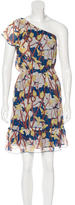 Anna Sui Graphic Print Silk Dress