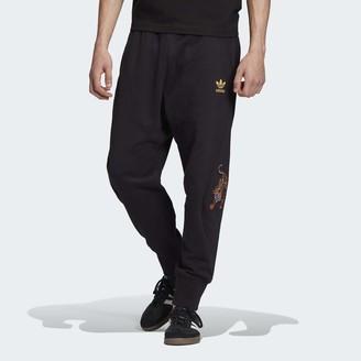 adidas Men's Track Pant Chinese New Year Black/Gold Metallic X-Large