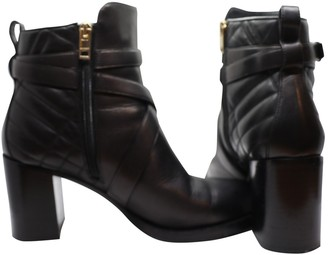 Burberry Black Leather Ankle boots